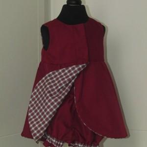 Tulip dress - tartan with matching panties