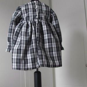 Long sleeved satin dress