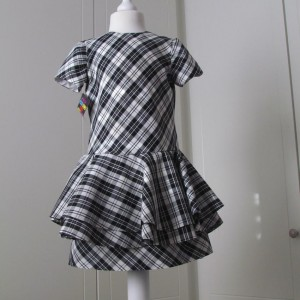 Tartan double peplum dress